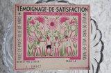 フランス ご褒美カード TEMOIGNAGE DE SATISFACTION